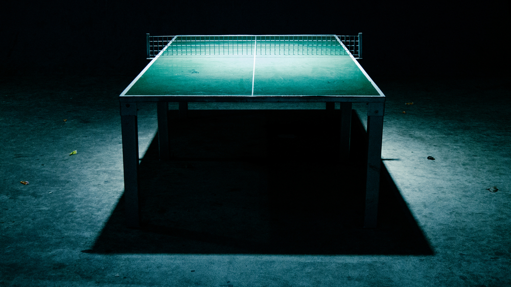 Akt desperacji tenisisty stołowego